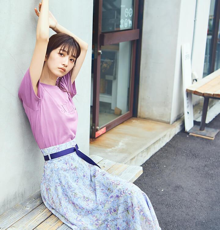ジルバイ 小室安未 フラワープリントスカート